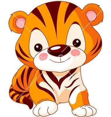 Cartoon tiger vector.