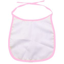 Pink Blank Sublimation Baby Bib.
