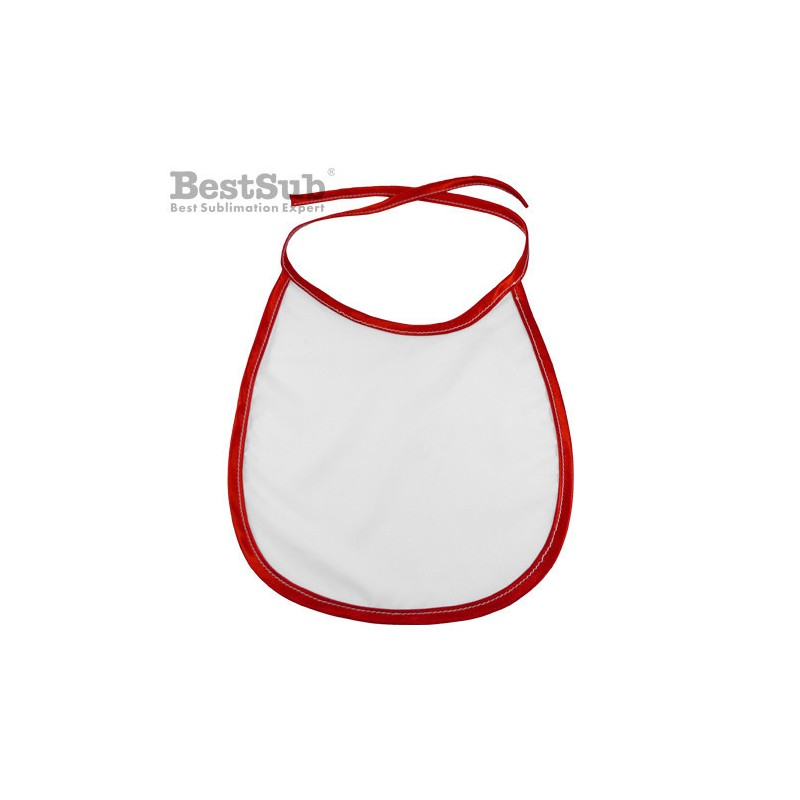 Baby bib with red trimming Sublimation Thermal Transfer.