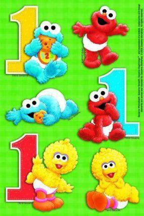 Sesame Street 1st Birthday Stickers by American Greetings. $0.01.