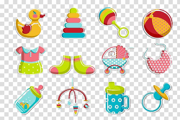 Infant Toy Pacifier Illustration, Baby Toys transparent.