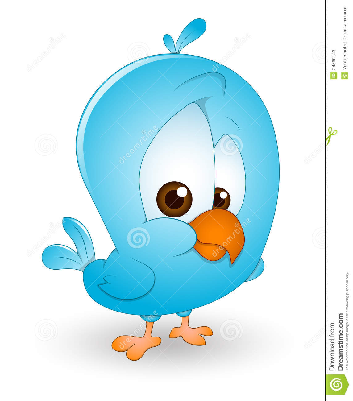 Cute Baby Bird stock vector. Illustration of animal, clipart.