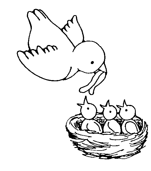 Baby Bird Clipart Black And White.