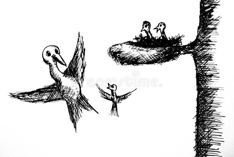 First flight stock illustration. Illustration of flight.
