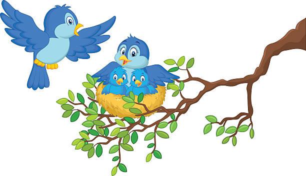 Baby Birds In Nest Clip Art, Vector Images #59866.