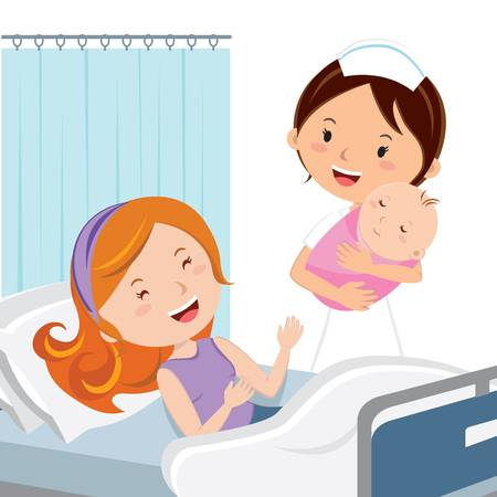 403 Giving Birth Stock Vector Illustration And Royalty Free Giving.
