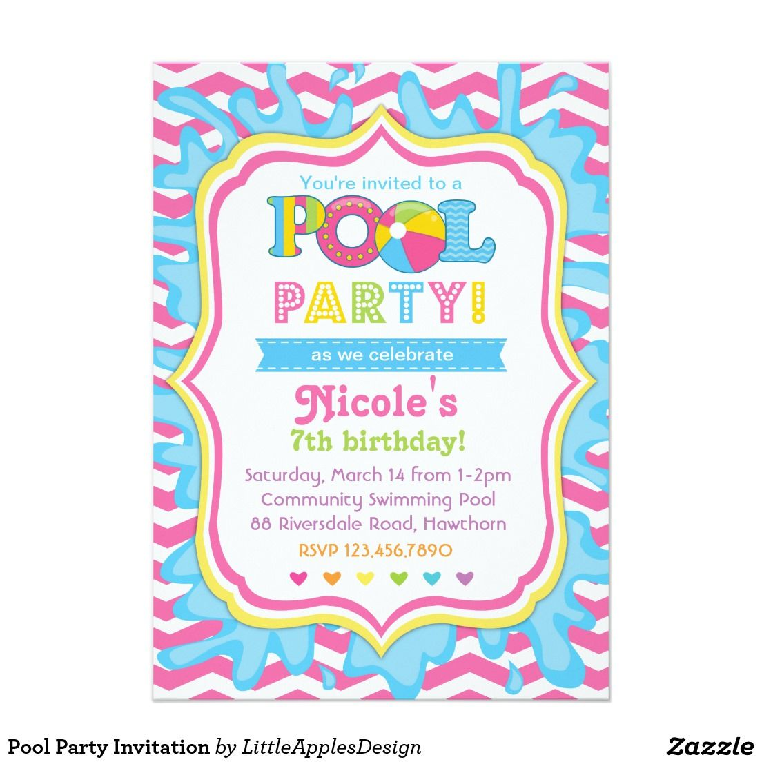 Pool Party Invitation.