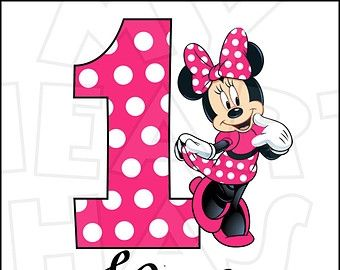 Minnie Mouse 1st Birthday Clipart.