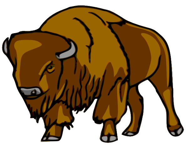 Baby Bison Clipart.