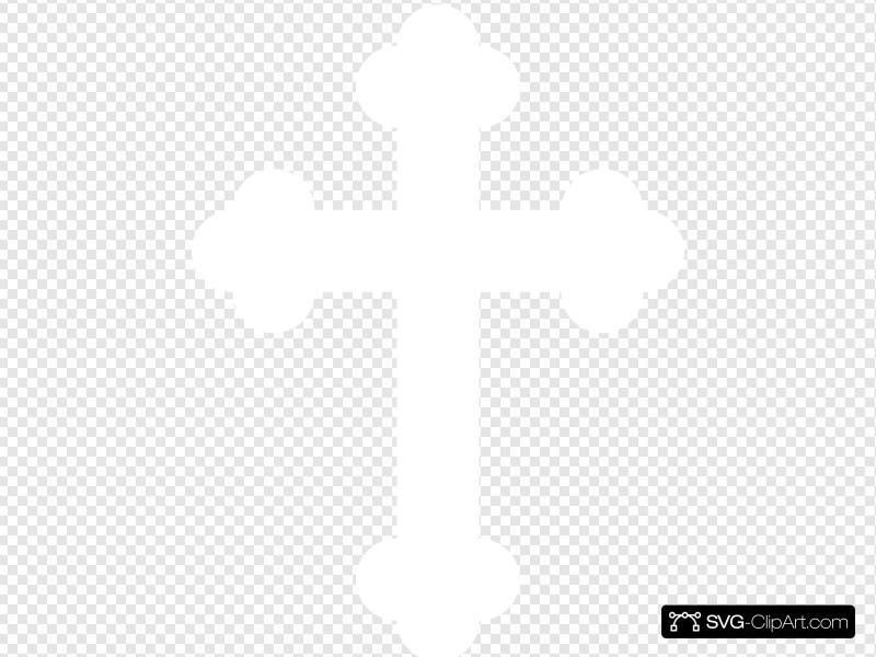 White Baby Cross Clip art, Icon and SVG.