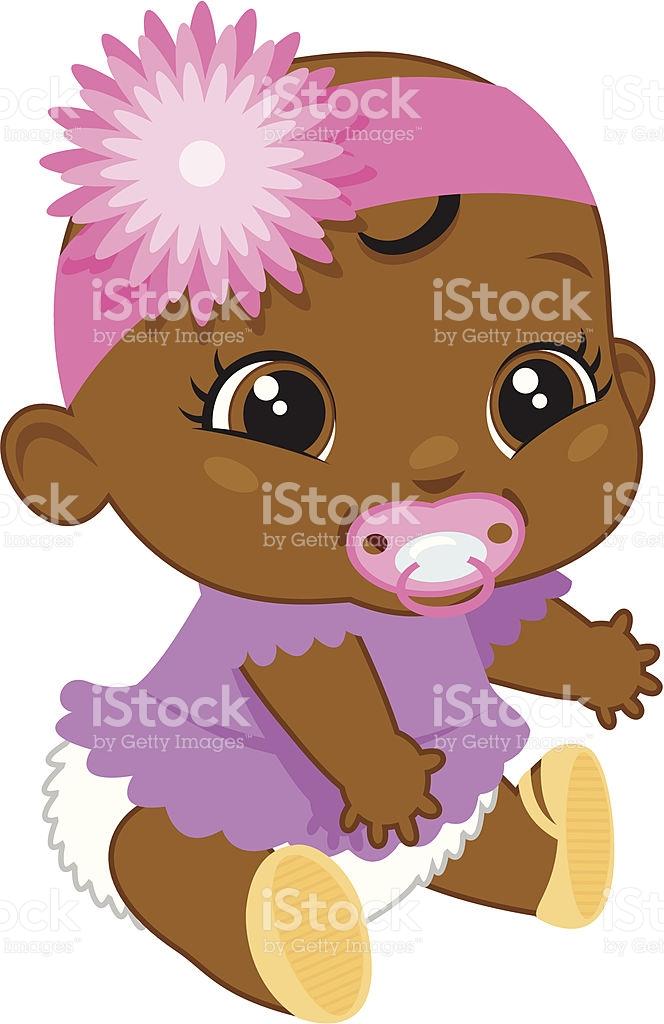 Black Baby Girl Clipart.