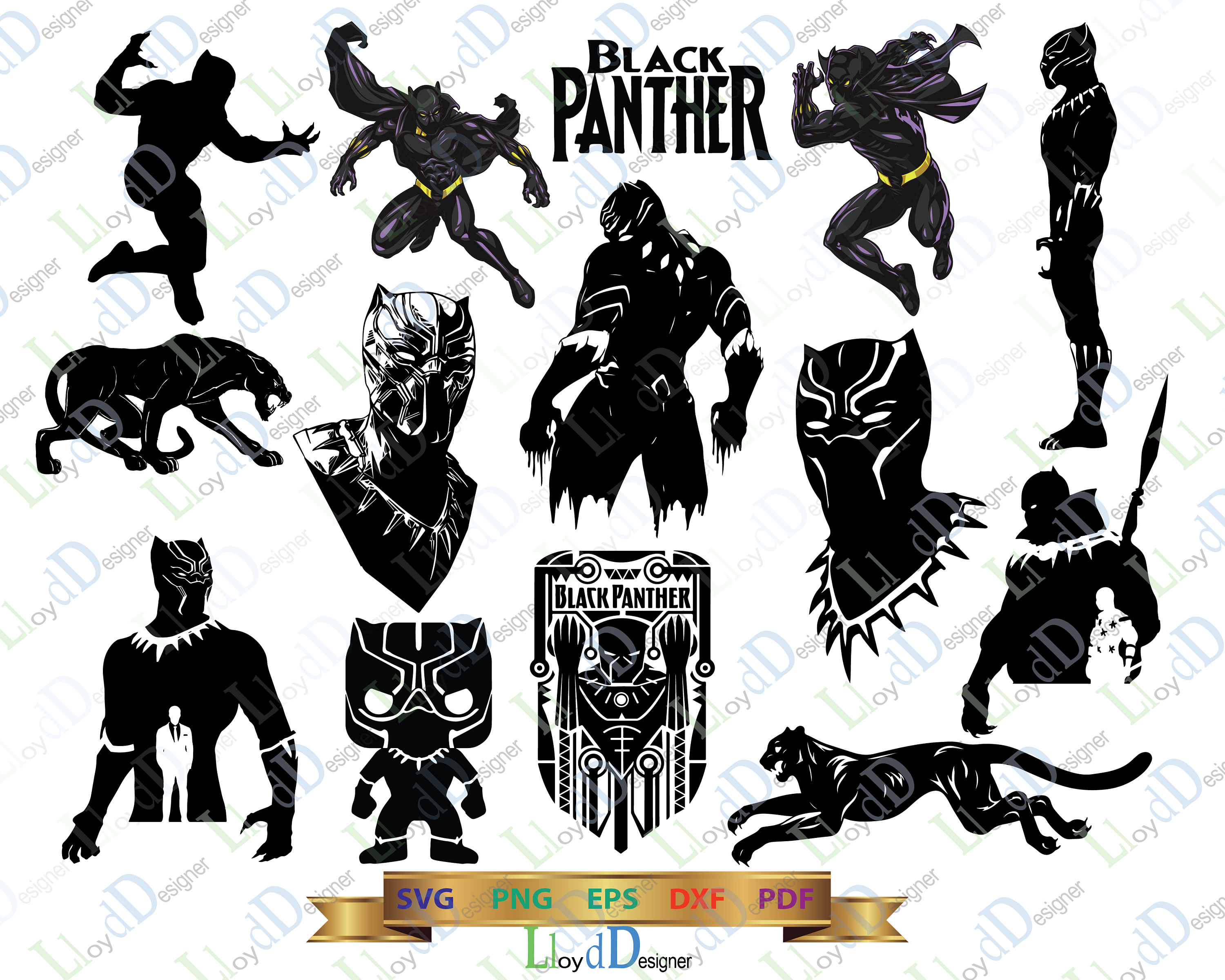 Black Panther Marvel Clipart.