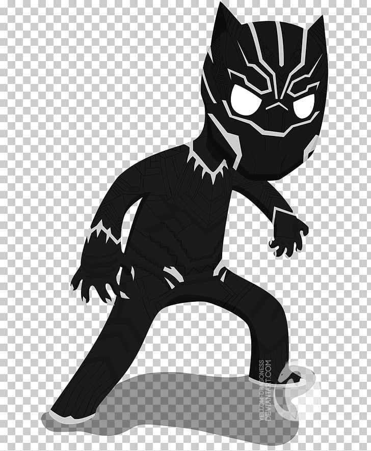 Black Panther Bucky Barnes Cat Art Marvel Cinematic Universe.