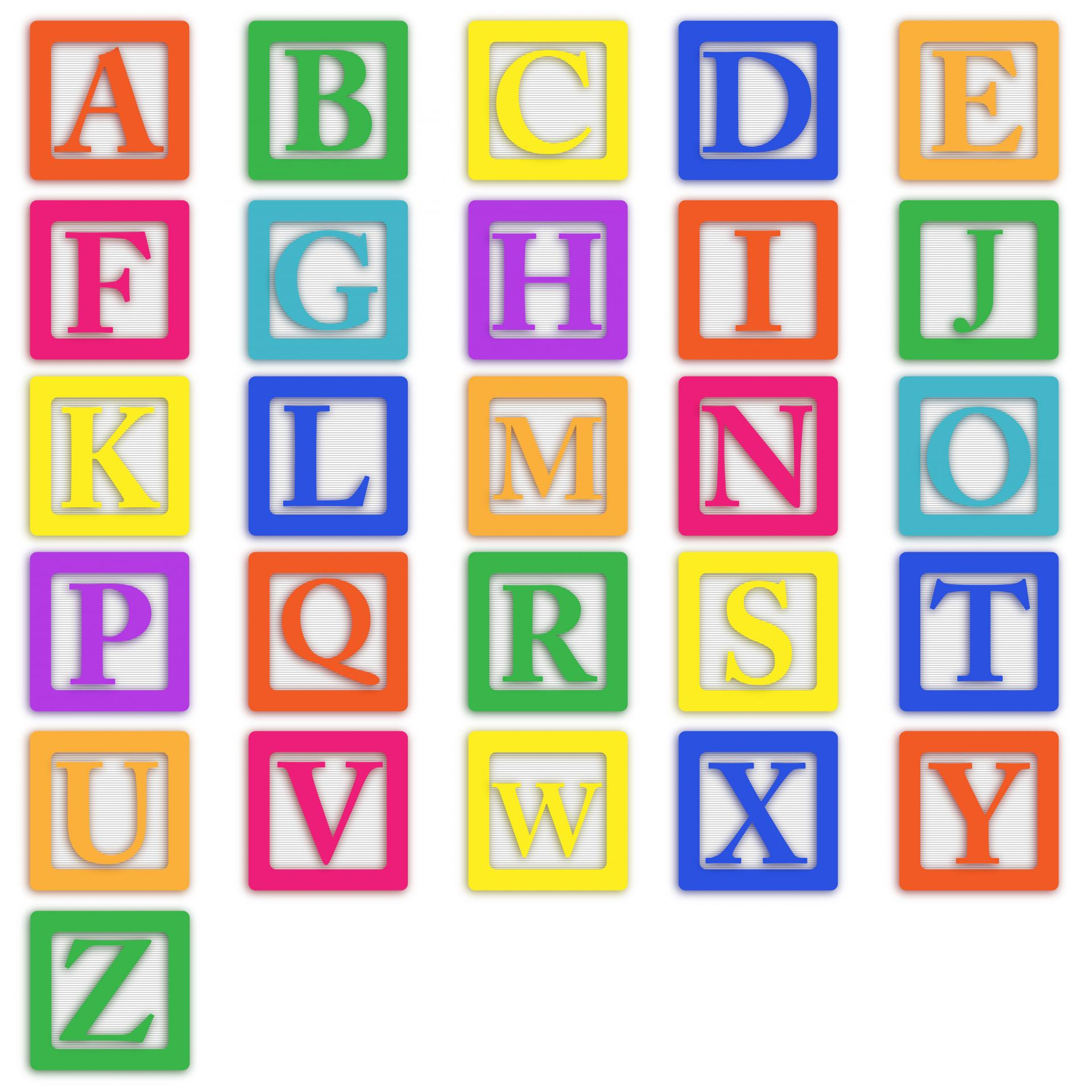 Baby Blocks Letters Free Stock Photo.