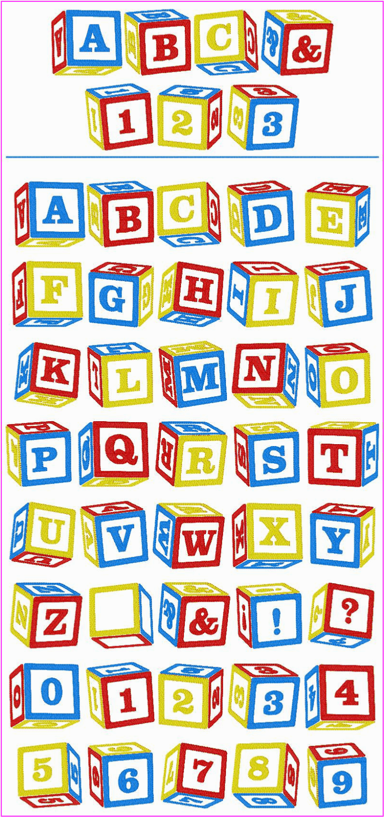 baby block letters clipart