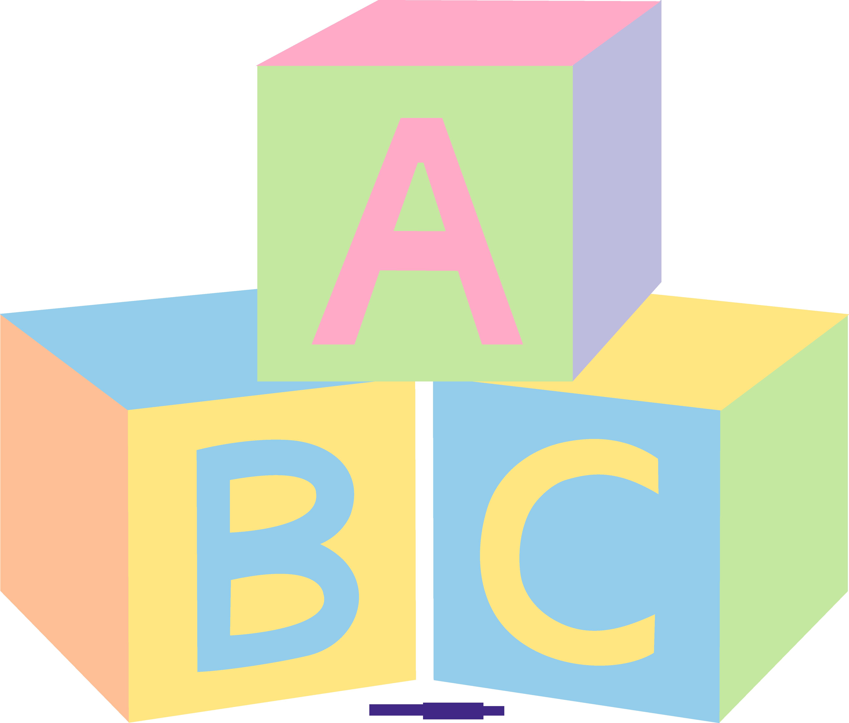 Pastel Baby Blocks Clipart.