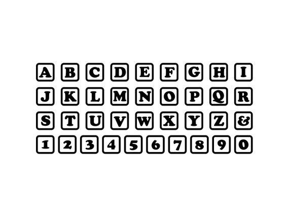Baby Blocks Svg Alphabet Blocks Clipart Silhouette Cricut Blocks Svg Clip  Art Vinyl Tshirt Vector.