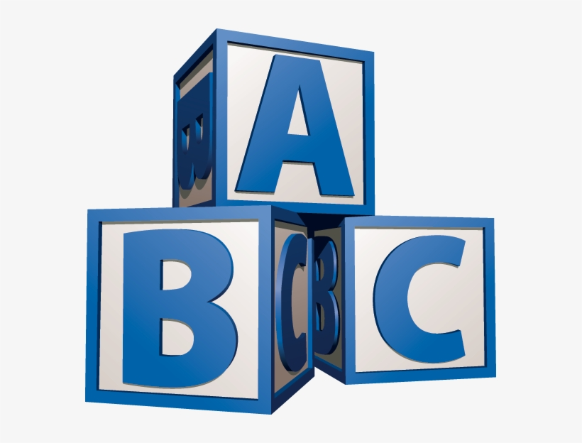 Blue Baby Blocks Clipart.