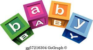 Baby Blocks Clip Art.