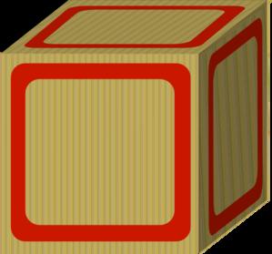 Plain Red Baby Block Clip Art at Clker.com.