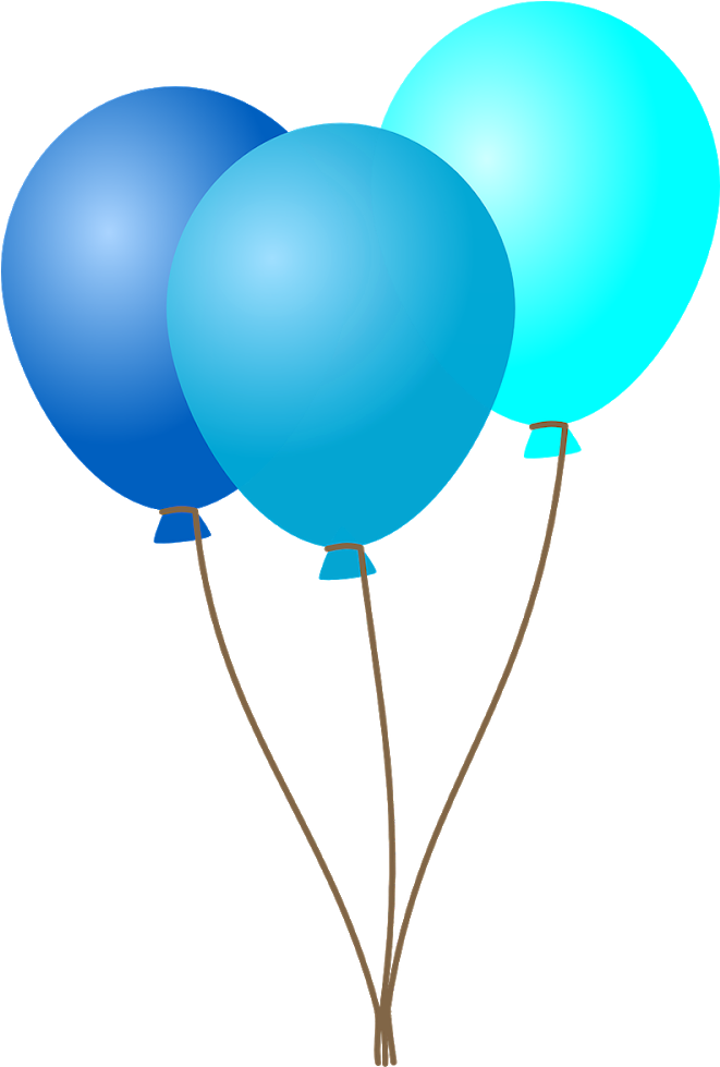 Birthday Decoration Balloons Vector Png Image.