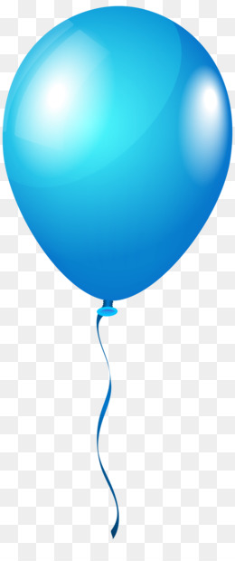 Blue Balloon PNG.