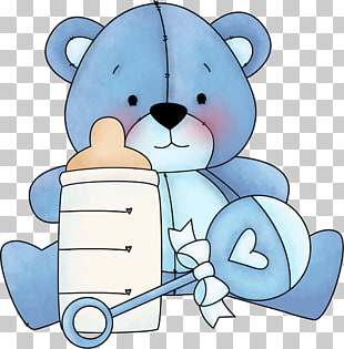 666 Blue bear PNG cliparts for free download.