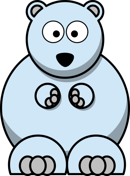 Light Blue Bear Clip Art at Clker.com.