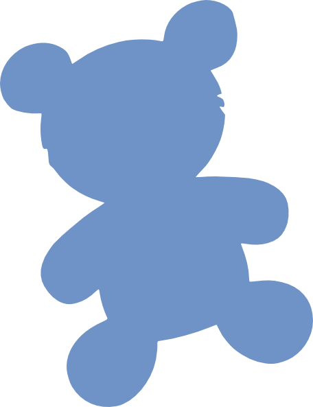Baby Blue Bear Clip Art at Clker.com.