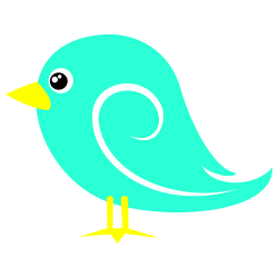 Light Blue Bird Clip Art.