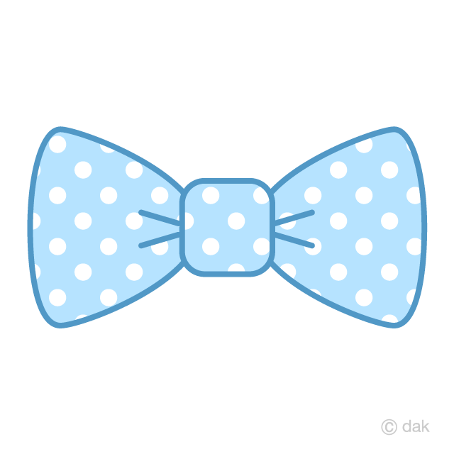 Free Light Blue with dots Bow Tie Clipart Image|Illustoon.