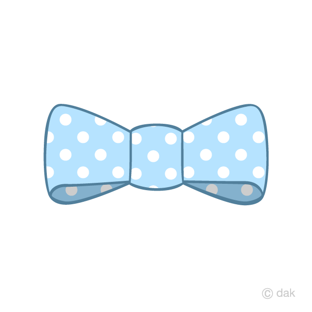 Free Light Blue Bowtie with dots Clipart Image|Illustoon.