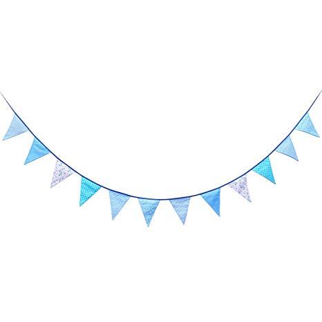 Amazon.com: Vosarea Pennant Flags Banner Cotton Fabric Blue.