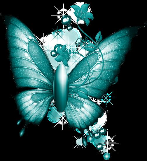 ForgetMeNot: Blue butterflies.