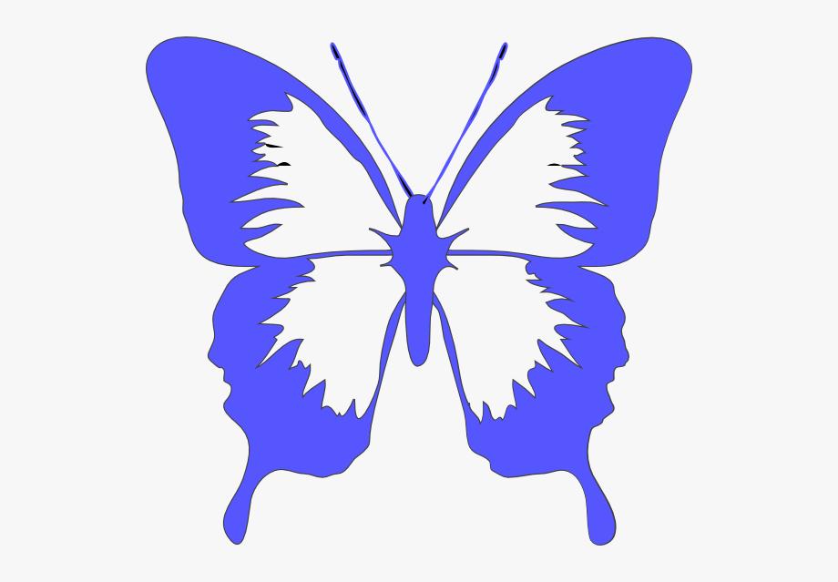 Butterfly Light Blue Clip Art.