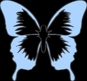 Blue Butterfly Clip Art at Clker.com.