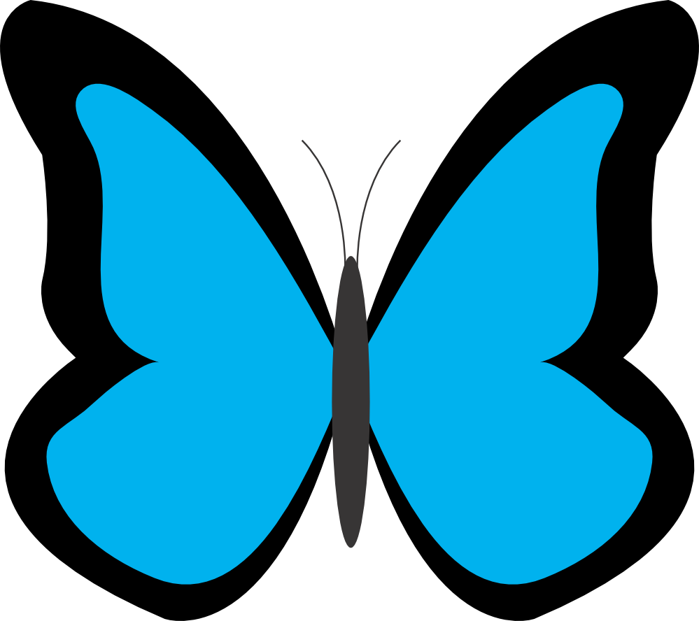 Clipart butterfly light blue, Picture #429435 clipart.