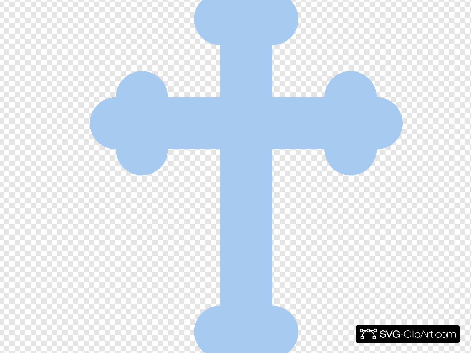 Light Blue Cross Clip art, Icon and SVG.