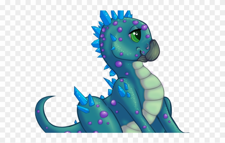 Blue Dragon Clipart Colorful Baby.