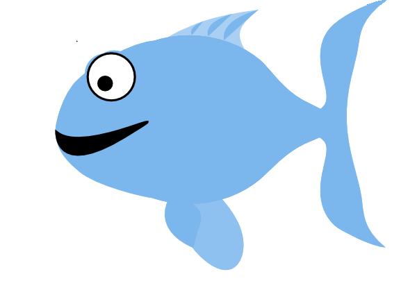 Light Blue Happy Fish Clip Art at Clker.
