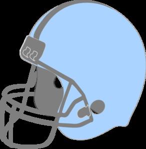 Blue Football Helmet Clipart.