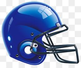 Blue Football Helmet PNG.
