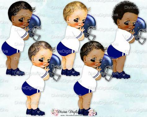 Little Prince Football Player Jersey Helmet Cleats Dark Blue.