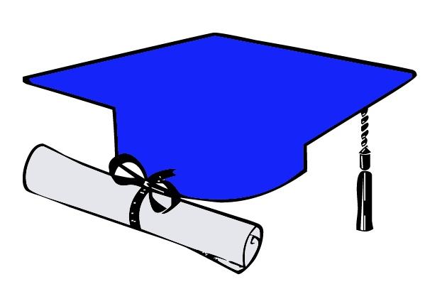 Free Graduation Cap Blue Clipart, Download Free Clip Art.