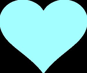 Light Blue Heart Clipart.