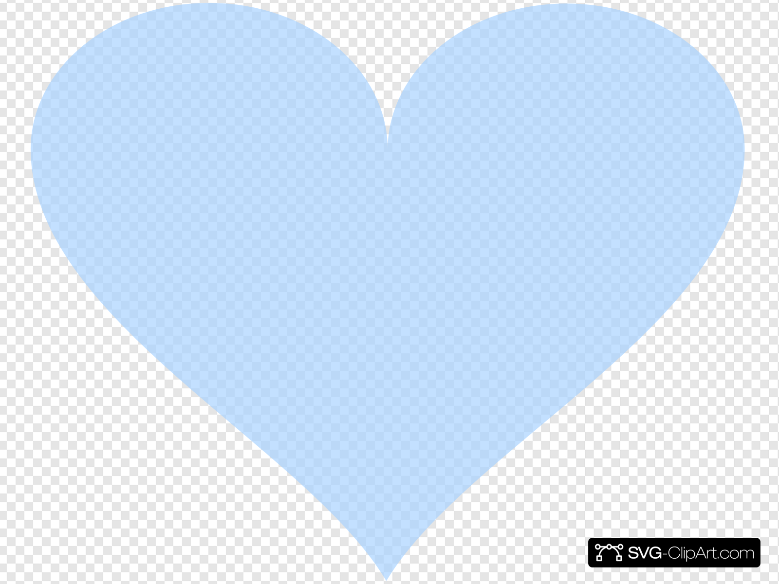 Light Blue Heart Clip art, Icon and SVG.