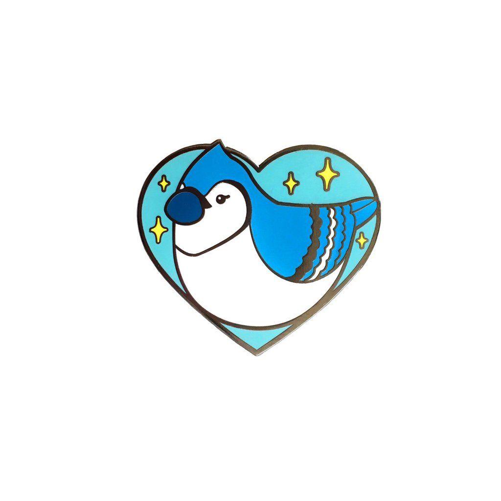 Baby Blue Jay Enamel Pin in 2019.