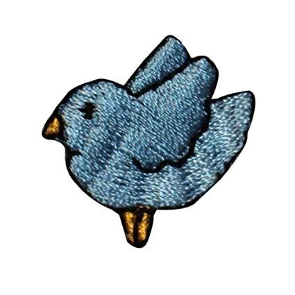 Amazon.com: ID 0521A Baby Blue Jay Bird Patch Tiny Flying.