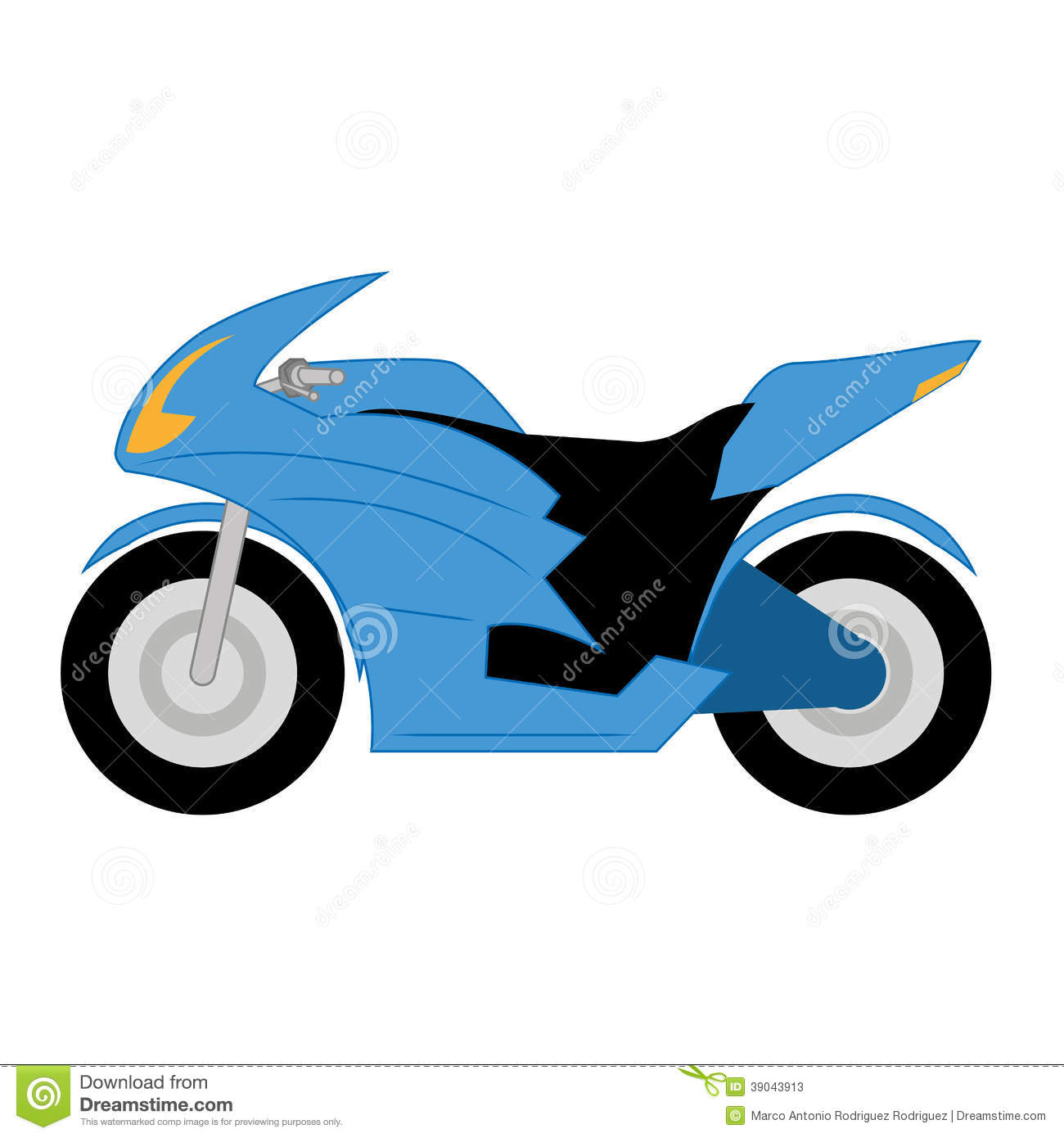 Simple Motorcycle Clipart.