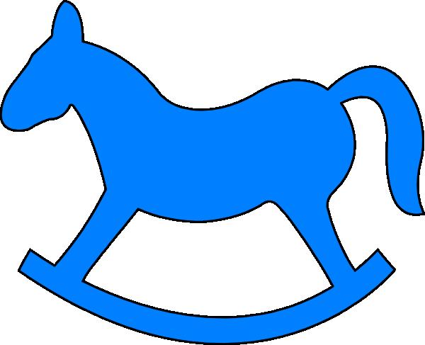 Blue Rocking Horse Clip Art at Clker.com.